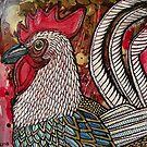 Proud Rooster by Lynnette Shelley