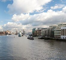 Thames Panoramic View from London Bridge by DonDavisUK