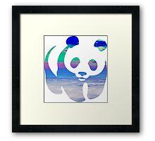 Panda clouds Framed Print