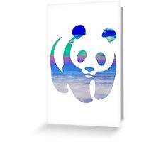 Panda clouds Greeting Card