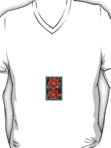 double tulips-redto greenbg!:P and green T-Shirt