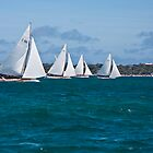 Couta boats sailing off Sorrento, Mornington Peninsula, Victoria Australia by RyePixels