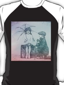 Boy and girl in love,romance,lovely,cute,vintage,drawing T-Shirt
