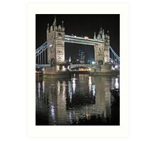 Tower Bridge reflections Art Print