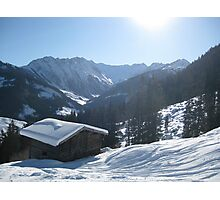 Snowy shed Photographic Print