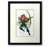Merida as Green Arrow Framed Print