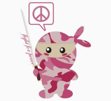 Fight For Peace (pink) by KillbotClothing