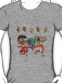 Who is eating which popsicle? T-Shirt