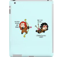 "Game of Thrones - Jon Snow and Ygritte ""Crows before Hoes"" iPad Case/Skin"