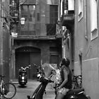 Side street in Palma near Es Baluard (B&W) v2 by SpencerCopping