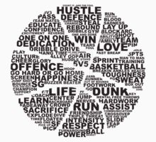 Basketball of the words Kids Clothes