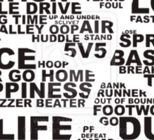 Basketball of the words Sticker
