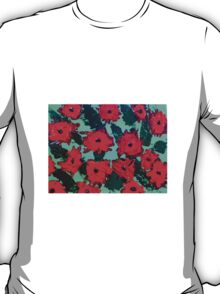 Red Flower Explosion T-Shirt