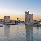 Harbour Towers, La Rochelle, France by Elaine Teague