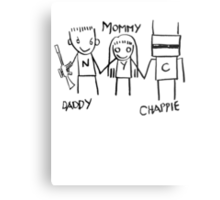 Daddy Mommy Chappie Metal Print