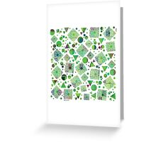 Geometric colorful pattern Greeting Card