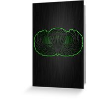 Android Metal Jump Wings Greeting Card