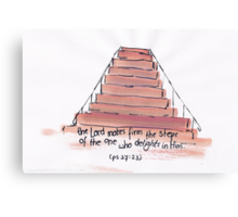 Psalm 37:23 -  the Lord makes firm your steps Canvas Print