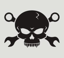 Skull 'n' Tools - Screw Pirate 2 (black) by GET-THE-CAR