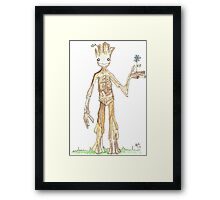 I AM GROOT Framed Print