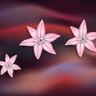 Lilies on Dark by lydiasart