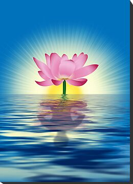 Lotus Reflecting Yoga by lydiasart