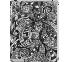 Drawing floral abstract background iPad Case/Skin