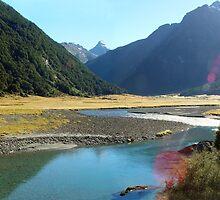 Crystal clear water - Siberia valley NZ by aerdeyn