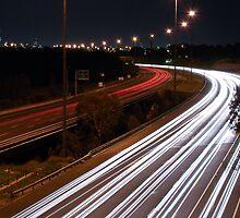 Easter Freeway at night by mugofevil