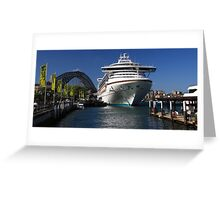 Diamond Princess in Sydney Harbour Greeting Card