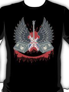 British Music Guitar Wings Collage T-Shirt