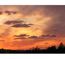 Sunset from the Mosta's Bride Garden Photographic Print