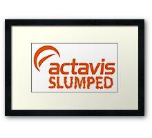 ACTAVIS SLUMPED Framed Print