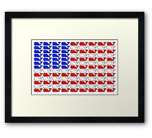 Vineyard Vines American Flag Framed Print