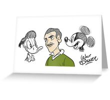 Walter Elias Disney. Greeting Card