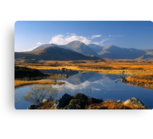 The Blackmount, Rannoch Moor, Highlands of Scotland. Canvas Print