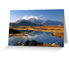 The Blackmount, Rannoch Moor, Highlands of Scotland. Greeting Card