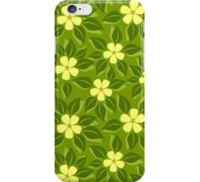 tropical floral pattern iPhone Case/Skin