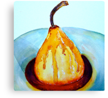 Delicious..Poached Pear in a  Mixed Berry Coulis Canvas Print