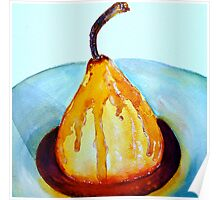 Delicious..Poached Pear in a  Mixed Berry Coulis Poster