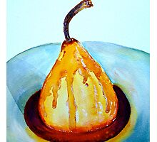 Delicious..Poached Pear in a  Mixed Berry Coulis Photographic Print