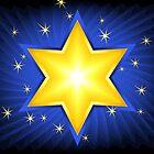 Gold Star of David by lydiasart