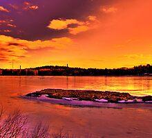 Winter Sunset by LudaNayvelt