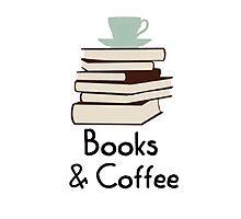 Books and coffee design Photographic Print