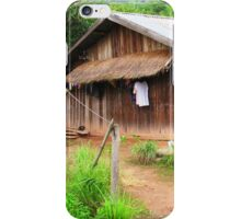 Traditional Windowless Hmong House © iPhone Case/Skin