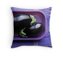 Purple Aubergine Throw Pillow