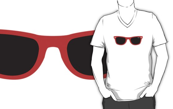 Red retro sunglasses by cocolima