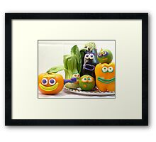 vegetable cacophony Framed Print