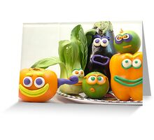 vegetable cacophony Greeting Card