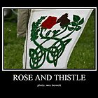 ROSE AND THISTLE FLAG by wesbennett100